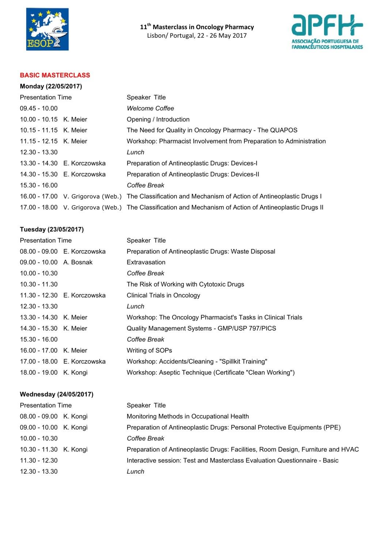 MASTERCLASS_Programm 07.03.17